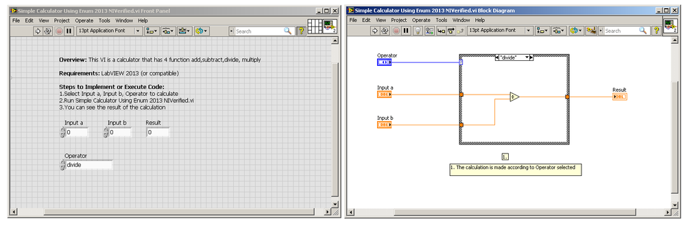 Simple calculator using enum in labview discussion forums 2 280g ccuart Gallery