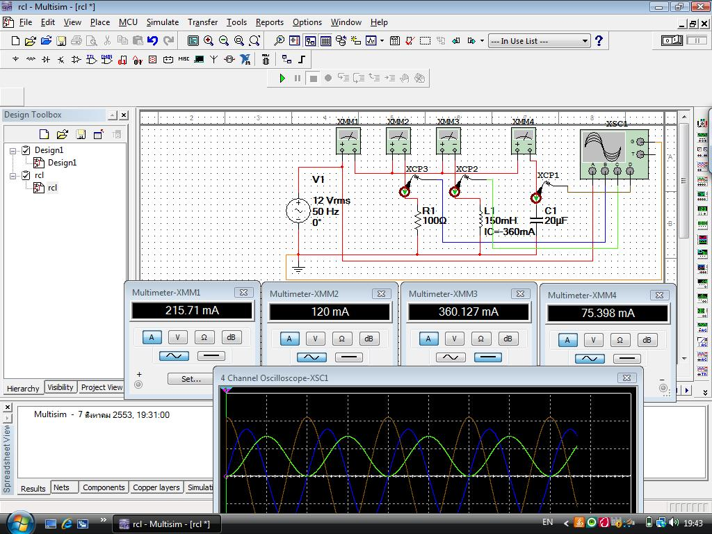 Offset Problem In Simulating Current And Voltage Phase Relation Of A Parallel Circuit 20905i61f25caae258778e