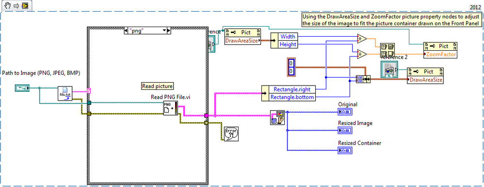 resize image to a container using labview discussion forums rh forums ni com labview block diagram zoom out