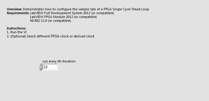 configure sample rate of single cycle timed loop.vi - Front Panel.png