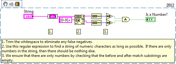 Determining Whether a String Contains Only Numbers using