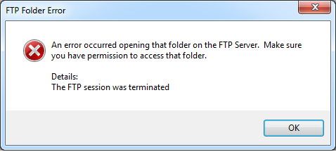 Cannot access a folder using FTP - NI Community - National
