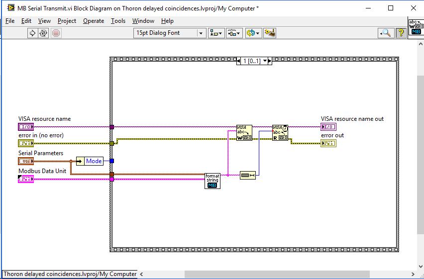 Reading power values via serial Modbus RTU power meter (slave) at