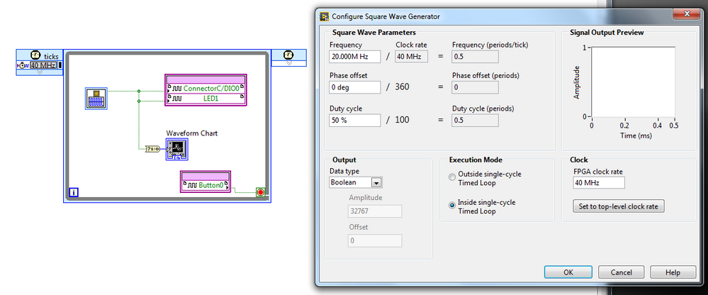 Solved: Labview FPGA Square Wave Inaccuracies - NI Community