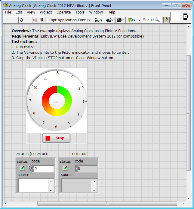 Analog Clock Using Labview Discussion Forums National Instruments
