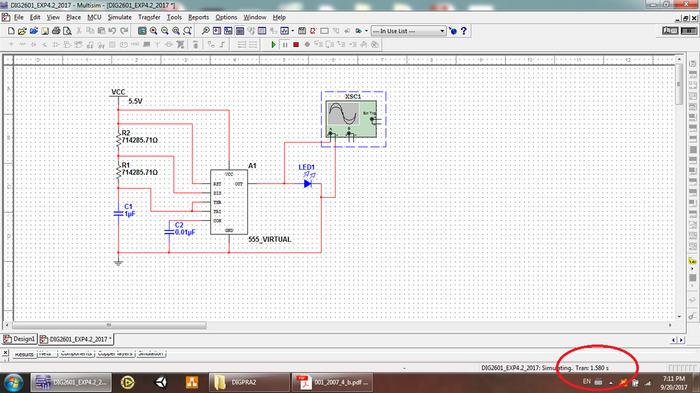 Operation of an Astable Multivibrator (using the 555 timer
