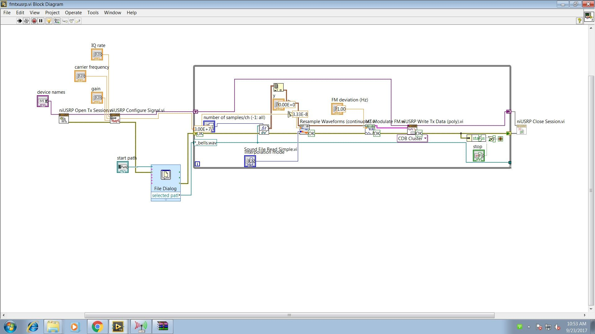 Fm Receive With Niusrp Discussion Forums National Instruments Block Diagram Of Radio Transmitter