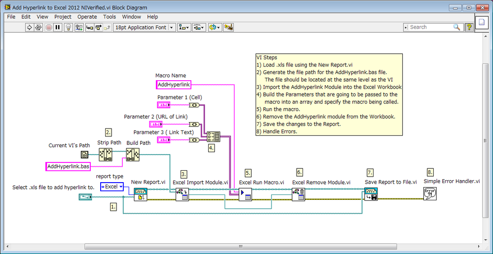 block diagram excel inserting a hyperlink into excel using the labview report ... oldsmobile fuse block diagram #15