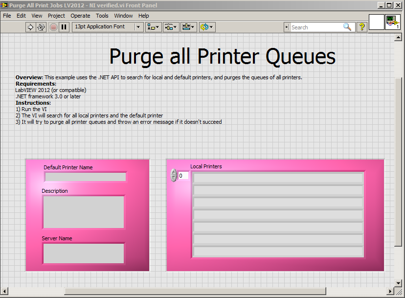 Programmatically Purge All Print Jobs on Local Printers Using