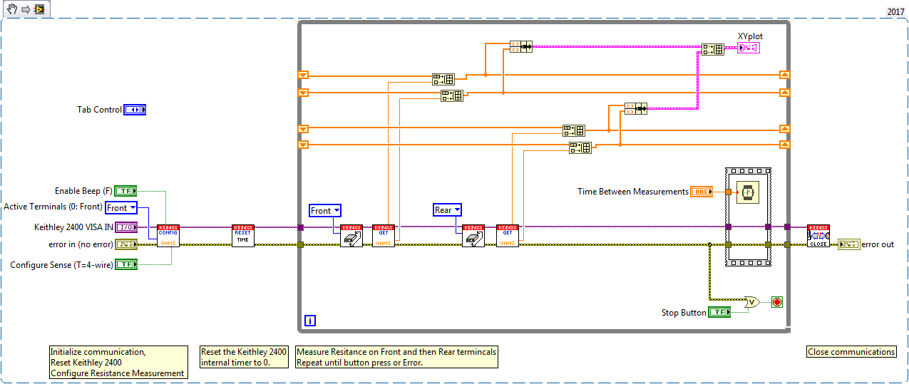 Solved: One Keithley Current Vs Time for two resistors - Page 2 ...