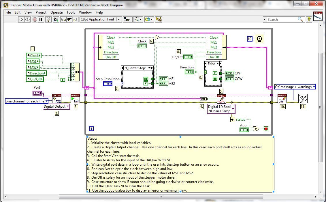 Stepper Motor Driver With Usb9472 Discussion Forums National Ms2 Wiring Diagram Instruments