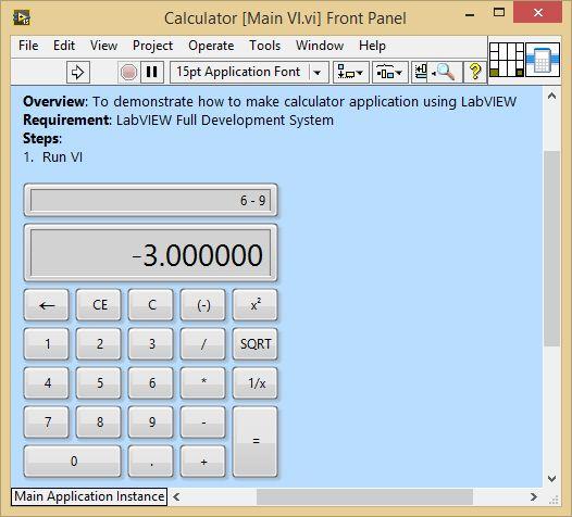 Labview - Calculator Example - Ni Community