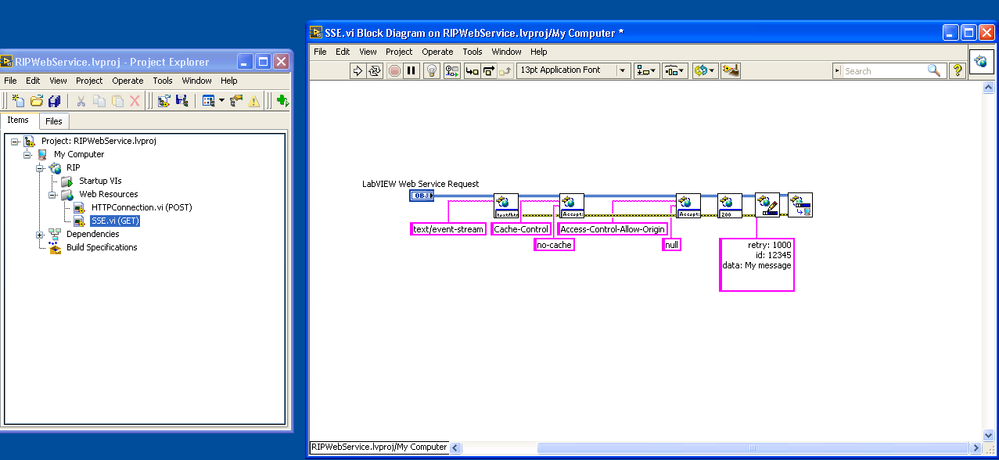 Web Services: Implementing Server-Side Events (SSE) - NI