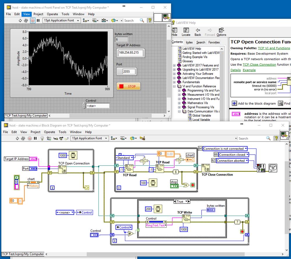 Error 66 occured with bi directional TCP communicition sbRio