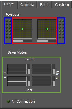 FRC Dashboard screenshot showing the Drive tab