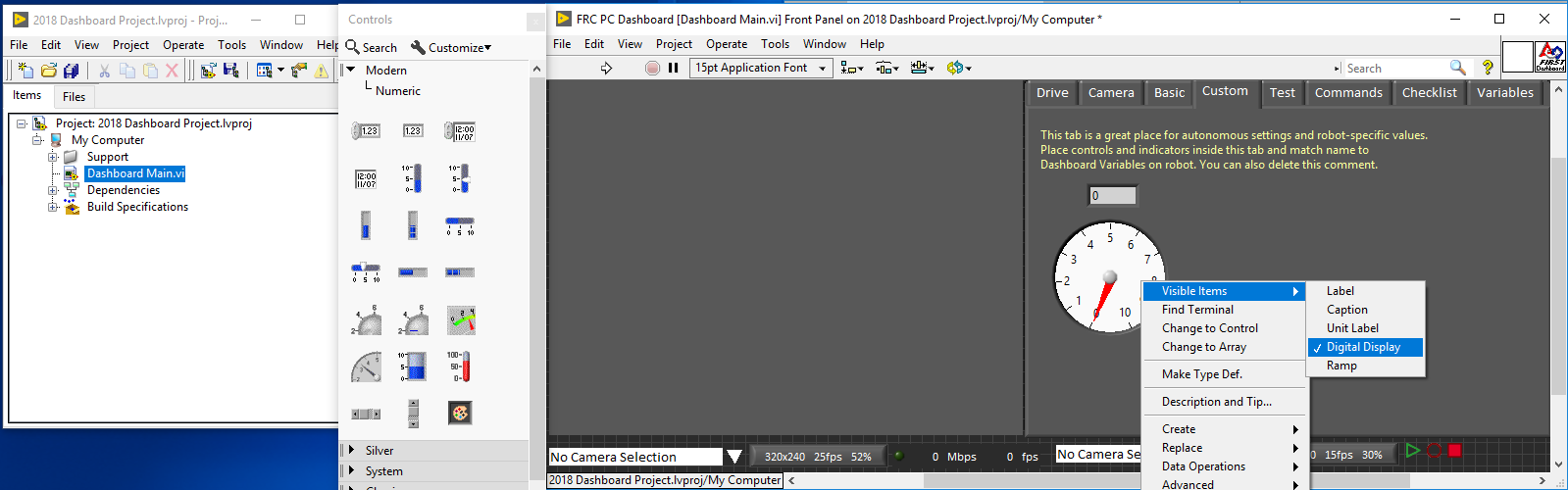 FRC Dashboard Tutorial - Discussion Forums - National Instruments