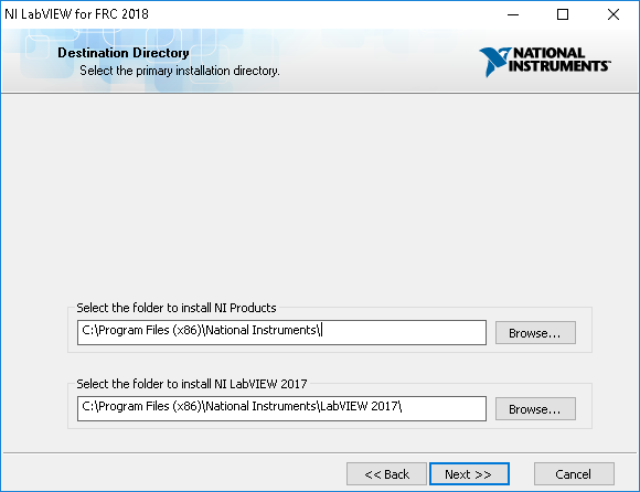 Installing LabVIEW for FRC 2018 - NI Community - National