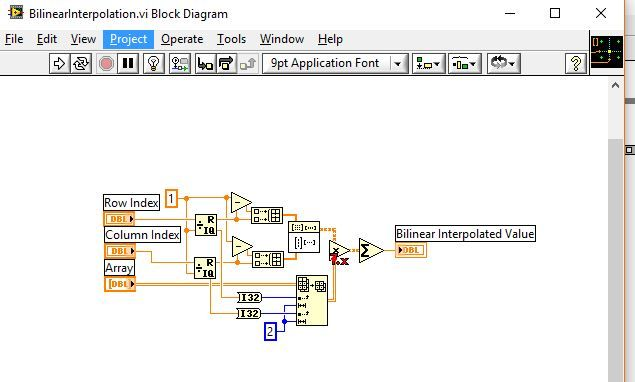 Labview 2d interpolation
