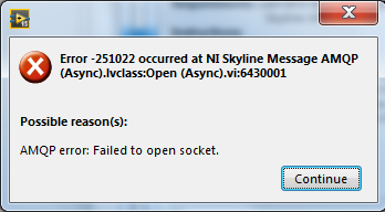 Solved: Skyline API AQMP failing to connect to socket - Page