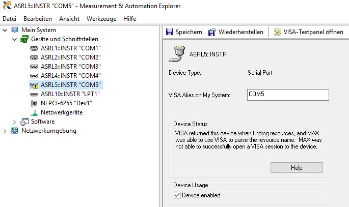 Connect STM32 via USB using virtual COM port - NI Community