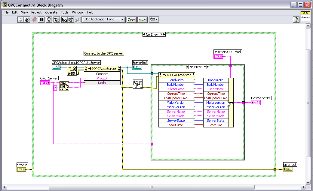 Zoom sur labview en mode client serveur opc ni community for Architecture client serveur