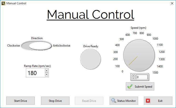 Manual Control Screen