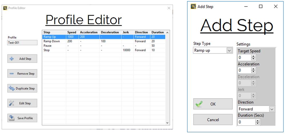 Profile Editor Tools