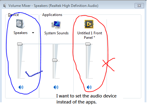 Programmatically Control the PC audio card volume and sample rate ...