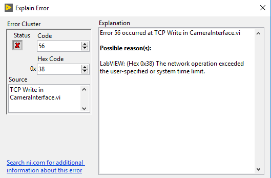 LabVIEW Error