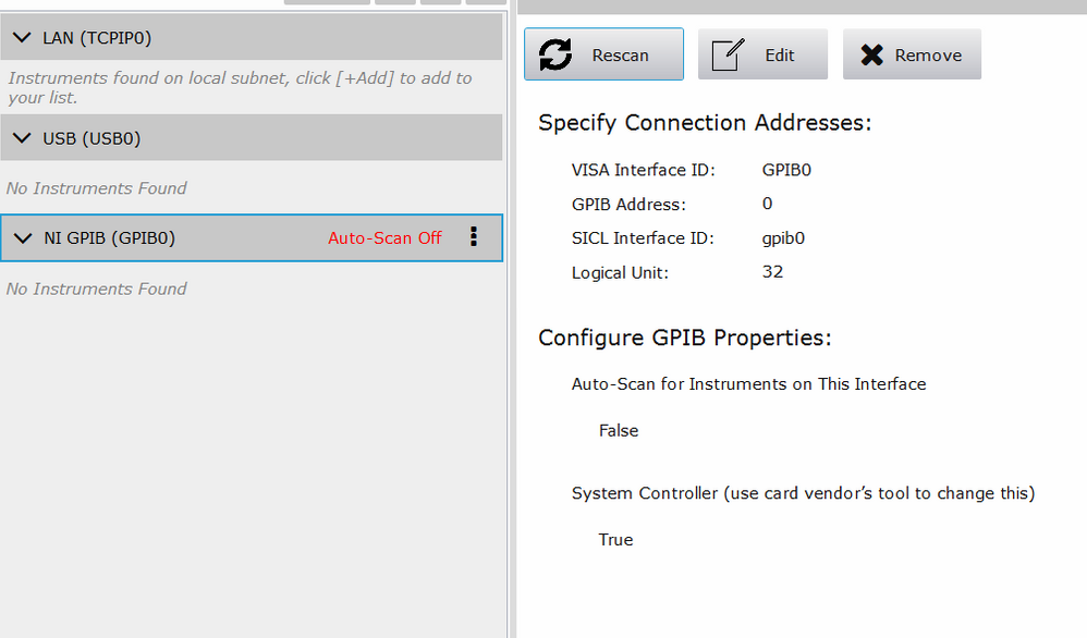 my laptop cannot detecte 34401a multimeter via GPIB-USB-HS - NI
