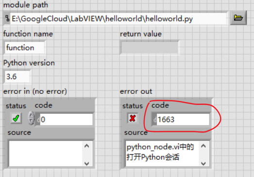 Labview failed to call python - NI Community - National Instruments