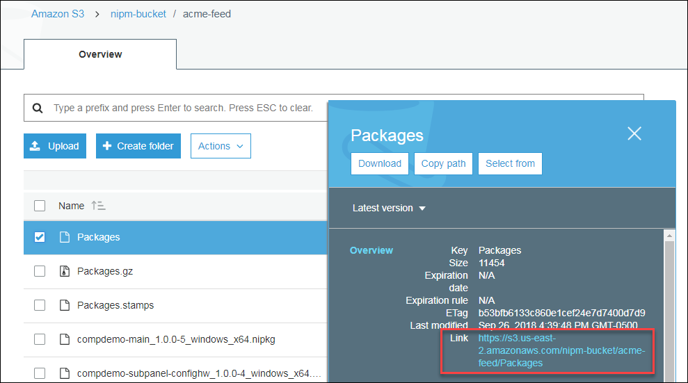 Amazon S3 - acme-feed - Packages URL.png