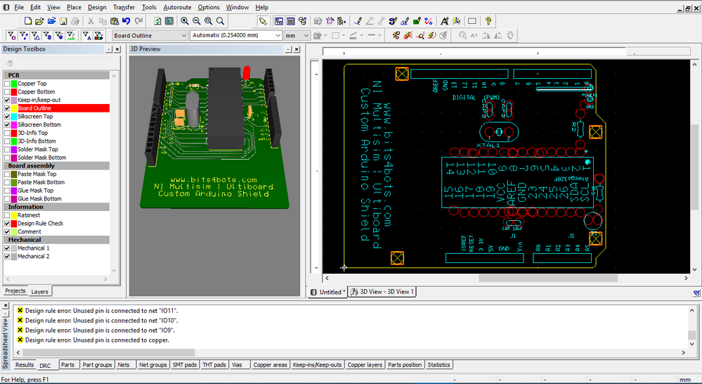 3D and Ultiboard design