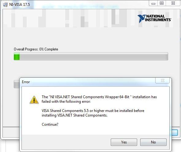 """Installing nidaq 17. 5. 0f0 and getting """"ni ethernet enumerator."""
