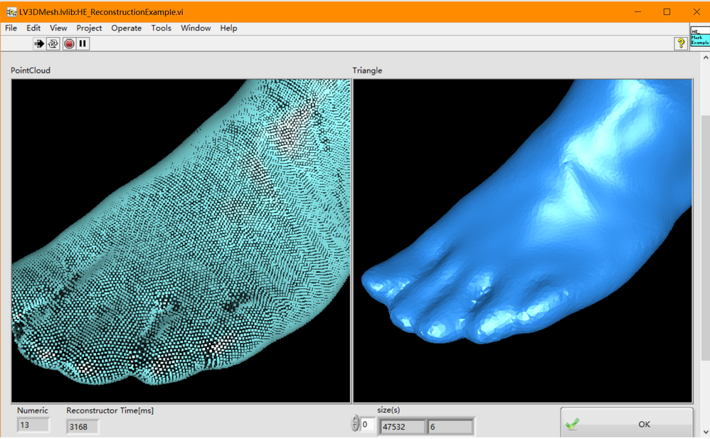 Point cloud reconstruction and filling