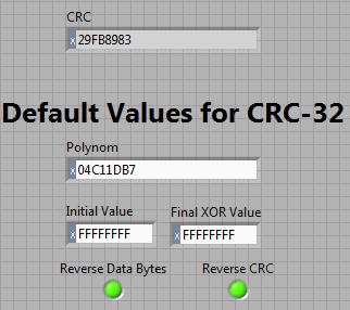 CRC32 - NI Community - National Instruments