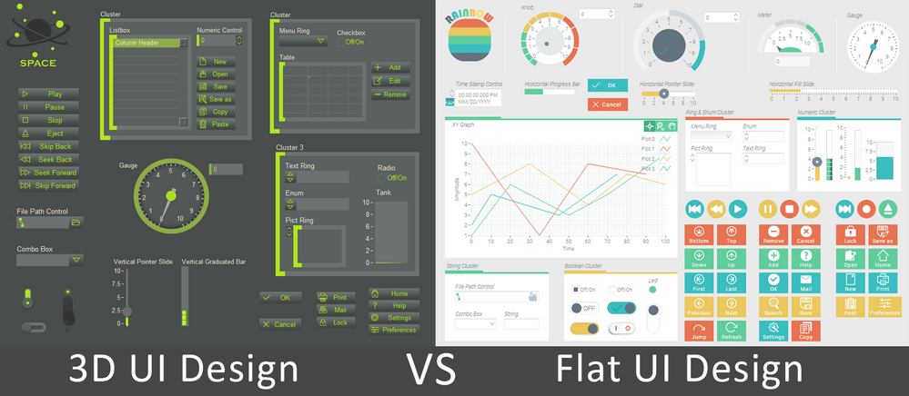 Flat Ui Design Road To A Stylish Interface Or Loss Of Diversity Ni Community National Instruments