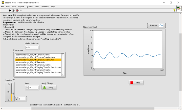 Running Compiled Simulink® Models in LabVIEW and in