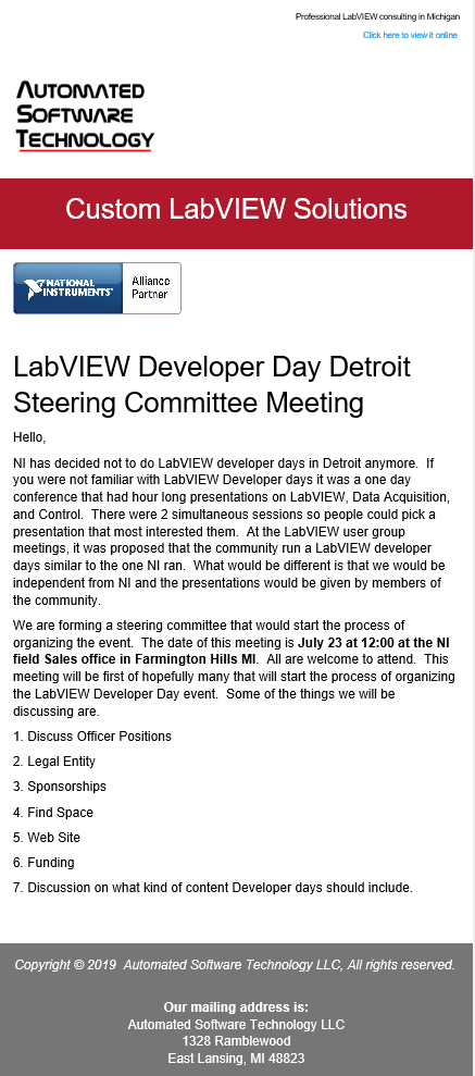 Steering Committee announcement.png