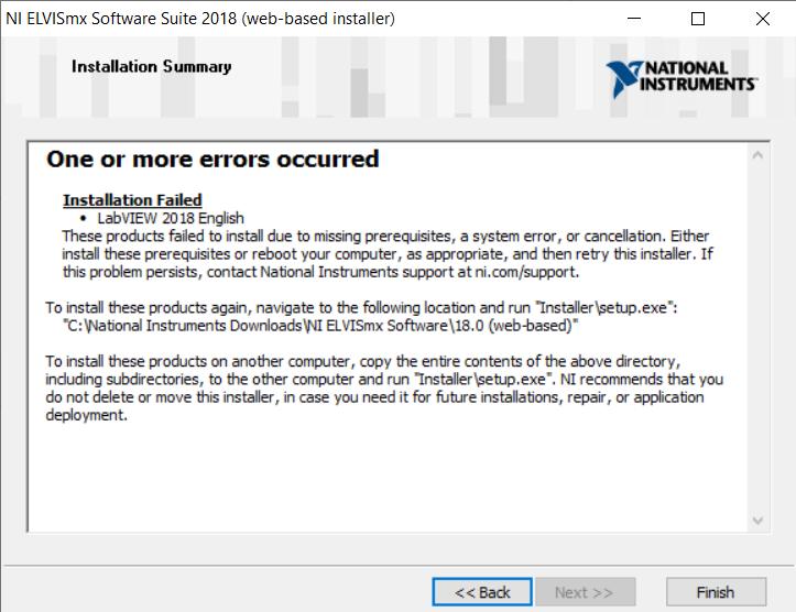 Solved: Installing error - NI Community - National Instruments
