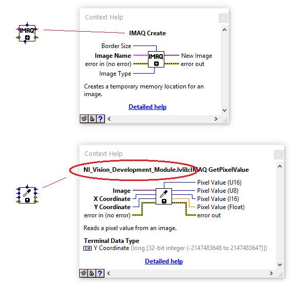 Context help showing .lvlib prefix for licensed VIs