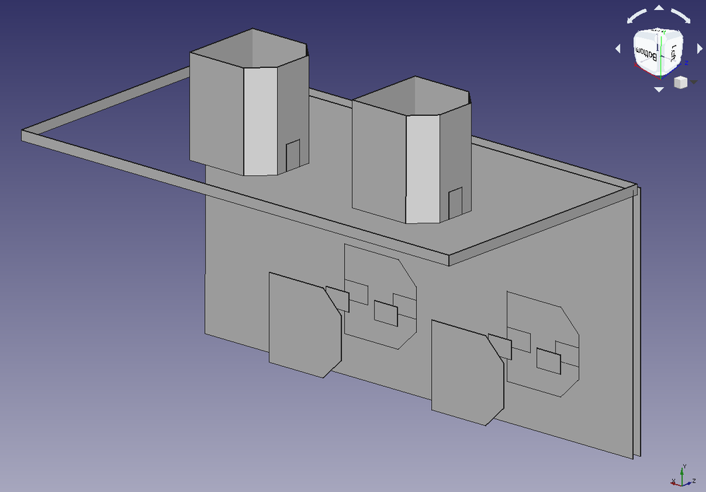 IGES Export Test - 3D viewed in FreeCAD 0.18