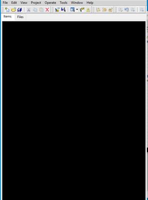 LabVIEW black windows
