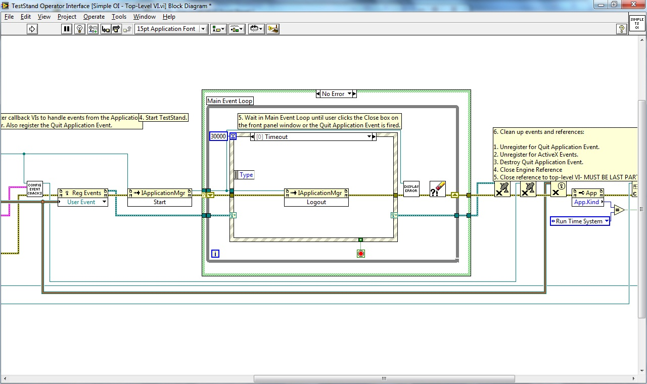 How to create a Watchdog timer for LabView OI auto exit