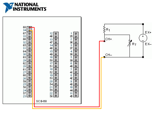 thermistor - discussion forums - national instruments, Wiring diagram