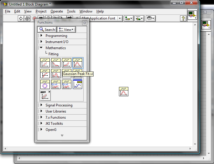 How to fit data to a gaussian distribution in Labview 7 1 - NI