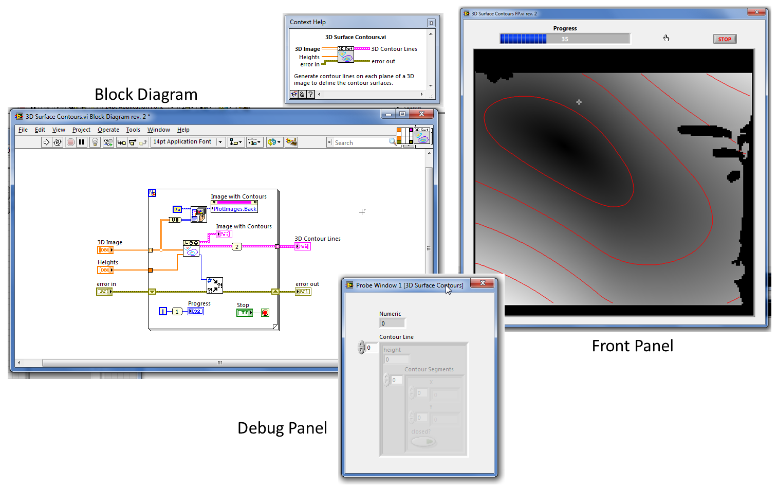 the block diagram should be the central vi component not the front rh forums ni com