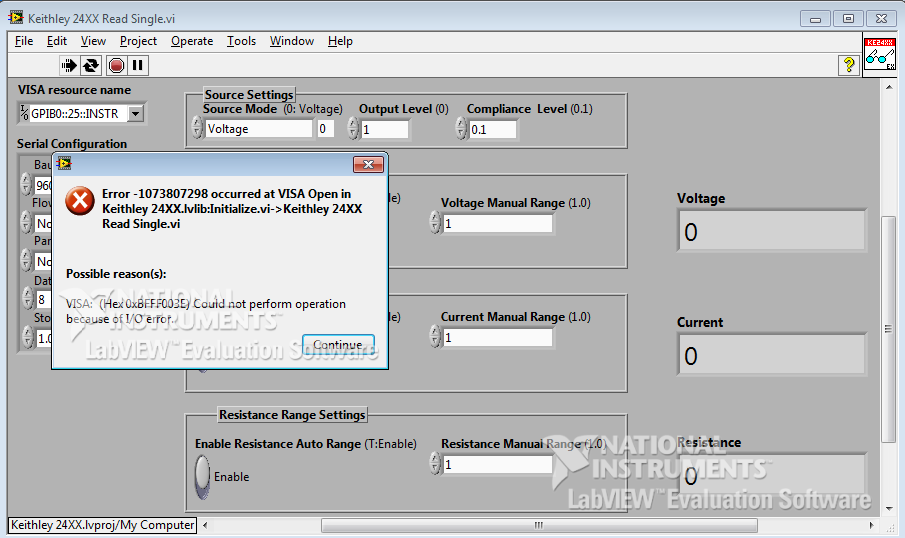 Keithley 6430 labview driver