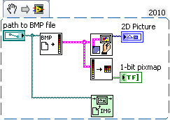 Solved: Display 1-bit Depth BMP file in LabVIEW - NI