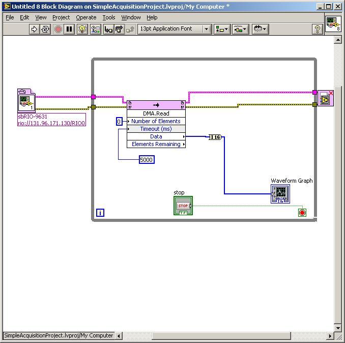 FPGA : sbRIO-9631, analog input sampling frequency, output to